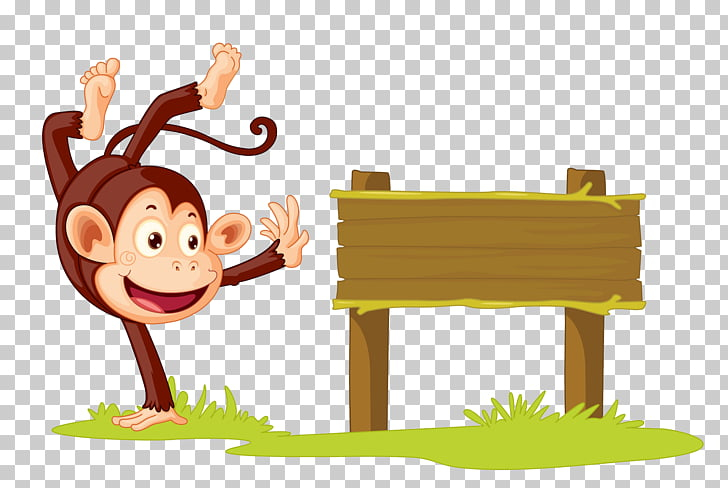 Balancín de mono stock photography ilustración, al lado del.