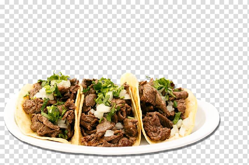 Mean on plate, Taco Al pastor Carne asada Mexican cuisine.