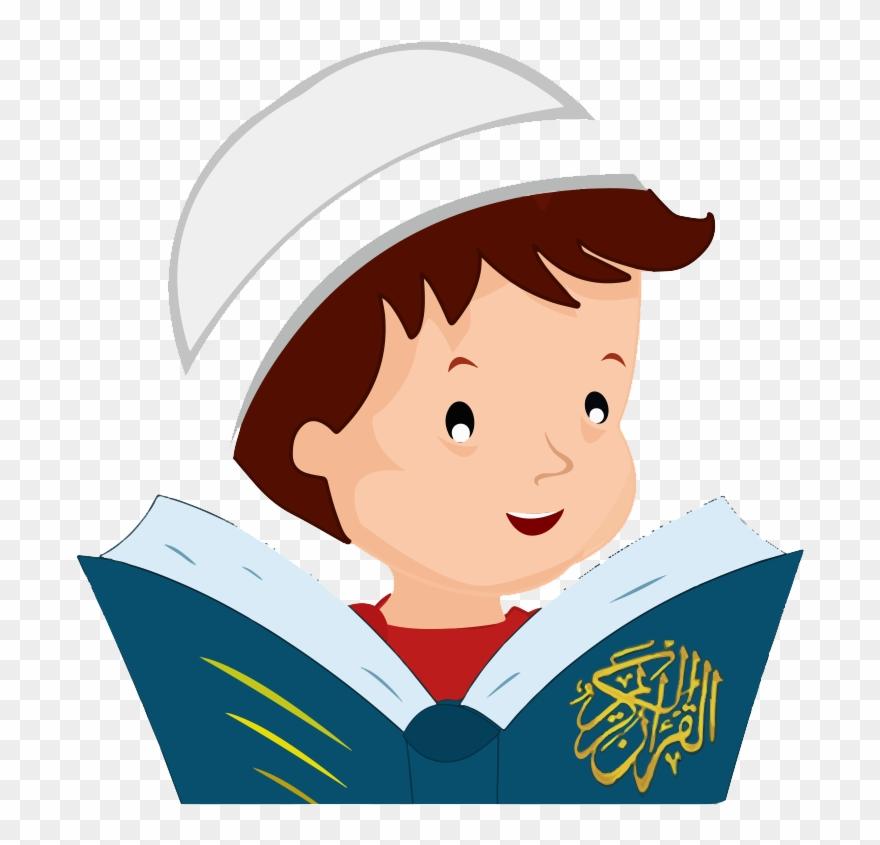 Arab Clipart Reading Quran.