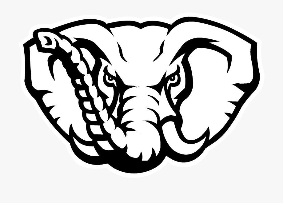 Alabama Crimson Tide Logo Black And White.