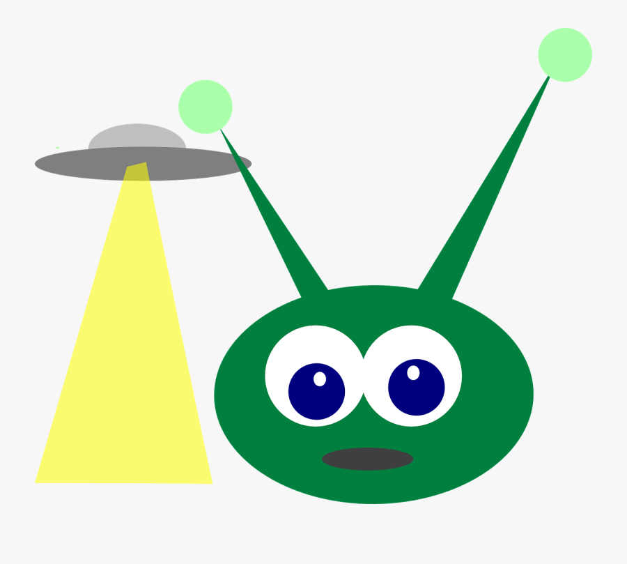 Green Alien With Antenna , Free Transparent Clipart.