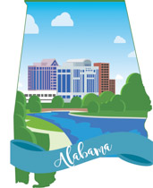 Fifty States: Alabama Clipart.