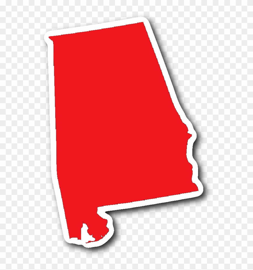 Alabama State Shape Sticker Red Alabama T Shirts, Stickers.