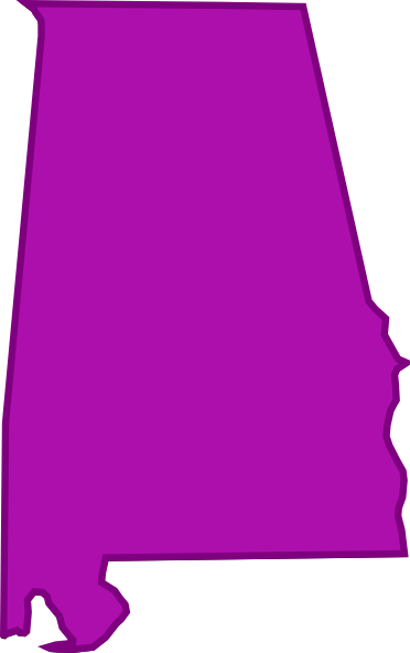 Alabama clipart outline.