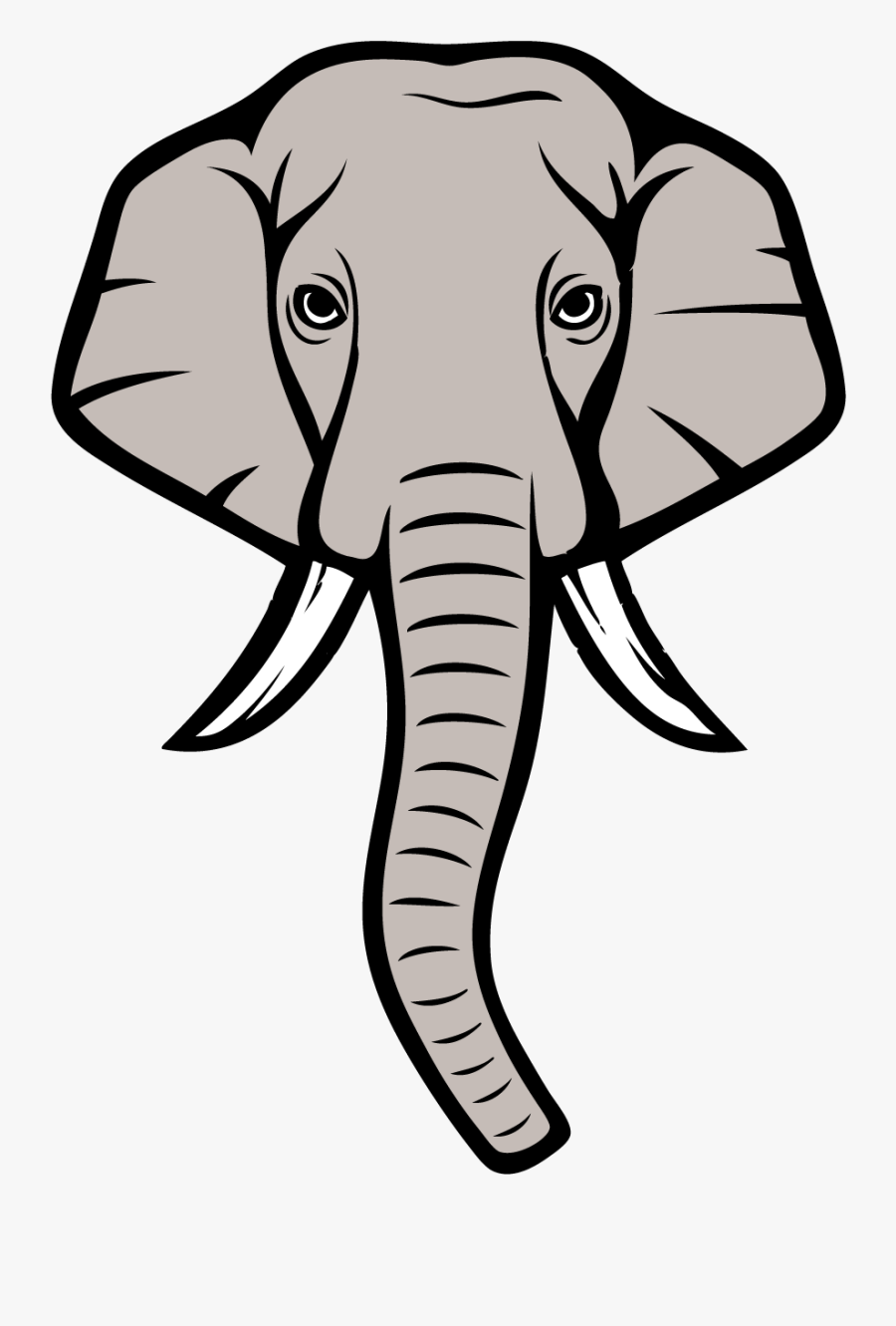 Alabama Elephant Lineart.