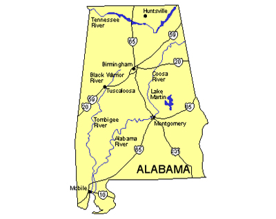 Alabama map powerpoint maps clipart.