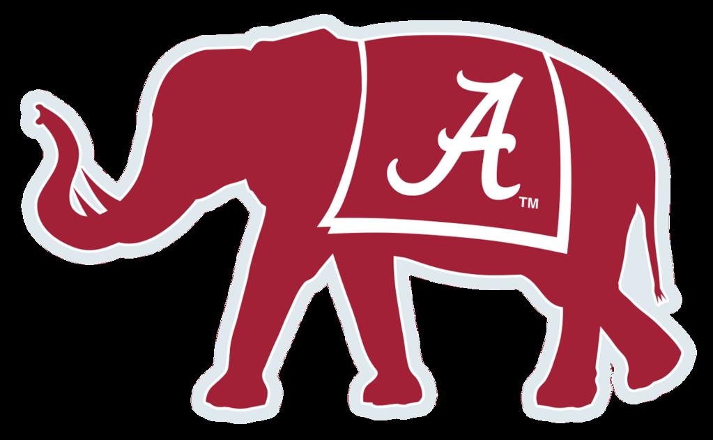 Alabama Crimson Tide football African elephant Big Al Logo.
