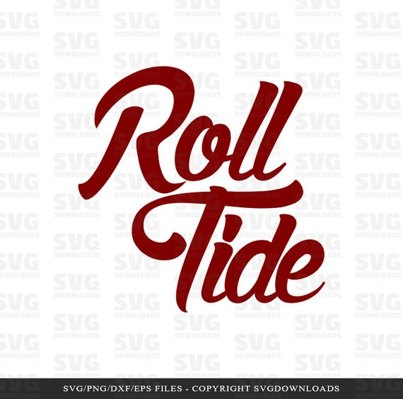 Roll Tide SVG Graphic, Alabama Crimson SVG, Silhouette Files, Cricut Files,  SVG Cut Files, Cutting Files, Clipart, Printable.