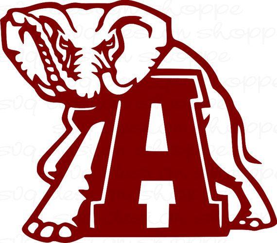 SVG Alabama Elephant Alabama Crimson Tide Roll by.