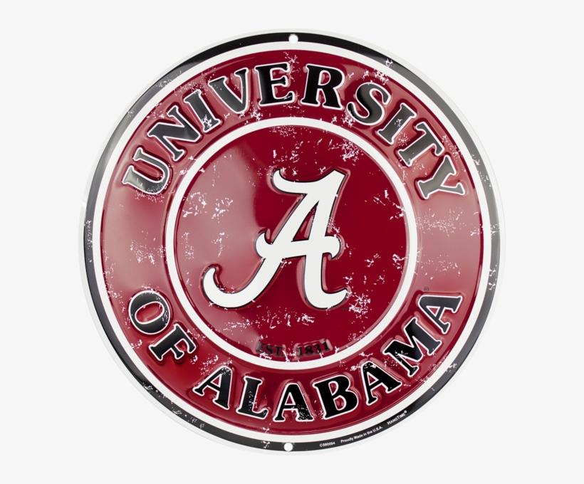 Alabama Crimson Tide Circle Sign Transparent PNG.