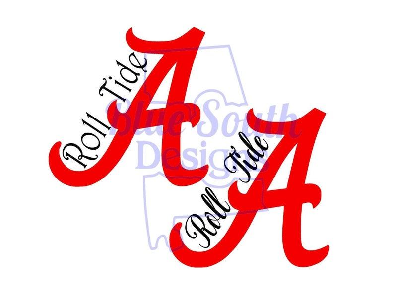 Roll Tide SVG, PNG, JPeg, pdf, Alabama Crimson Tide, Bama Shirts, Alabama  A, Alabama Football, NCAA Sports Files, College Football, Big Al.