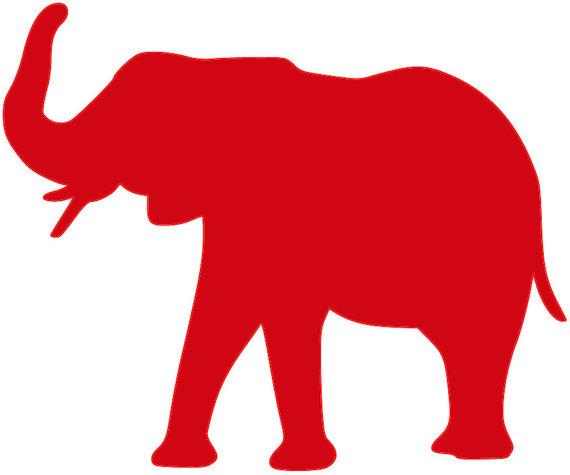 Elephant SVG Cut File Roll Tide Alabama.