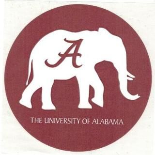 Alabama Crimson Tide Elephant Clipart.