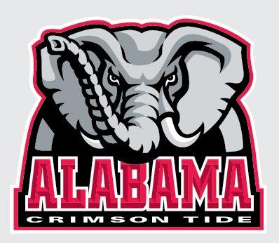 Alabama Crimson Tide PRIMARY ELEPHANT LOGO 4\