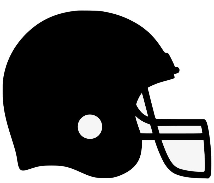 Football Helmet Icon Clipart Black And White Transparent Png.