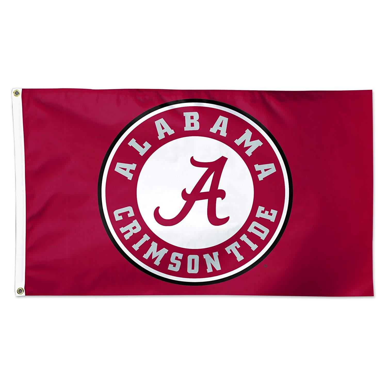 Wincraft Alabama Crimson Tide Circle Logo Roll Tide NCAA Football 3 x 5  Foot Flag.