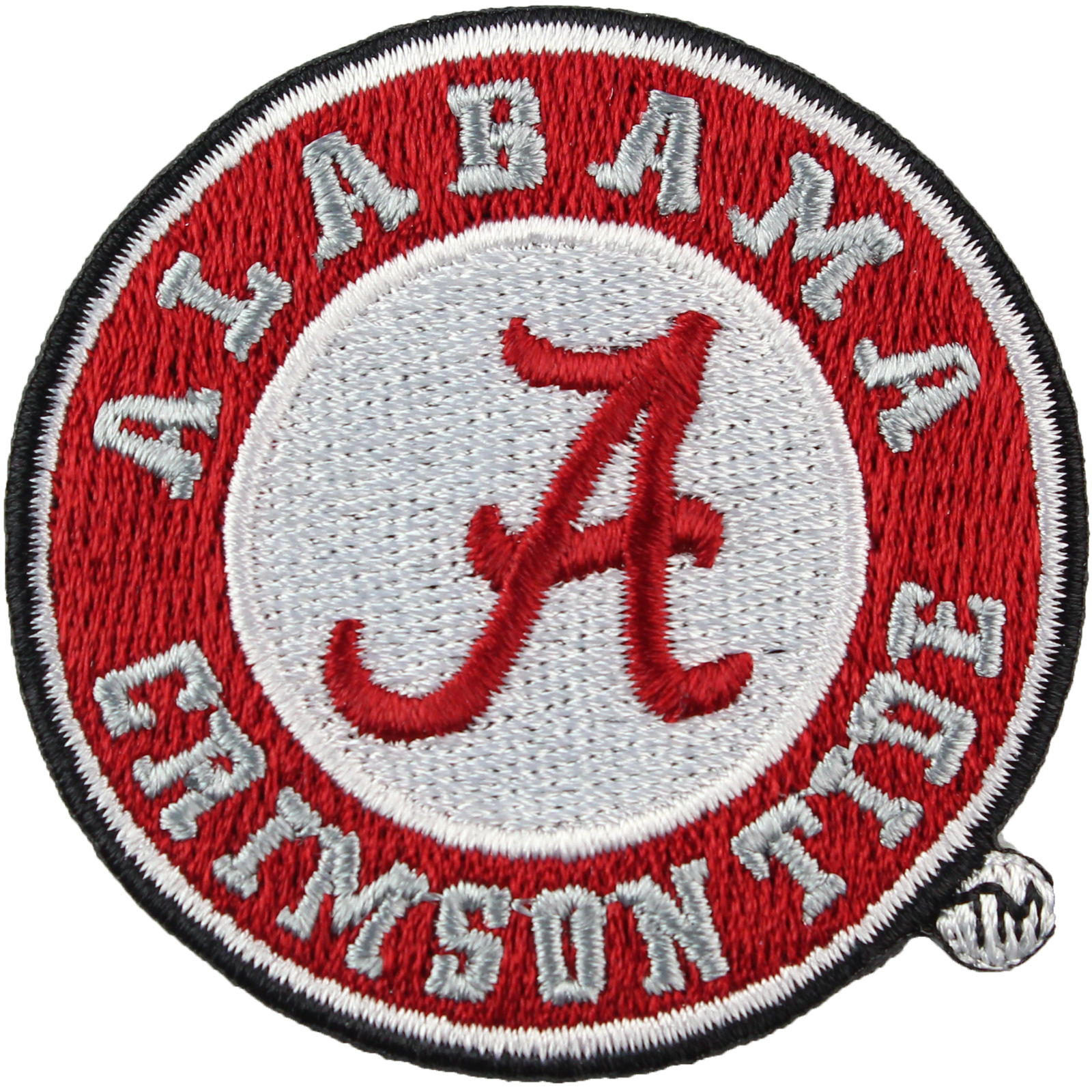 Details about Alabama Crimson Tide Official Round Logo Embroidery Iron On  Patch Hat Football.