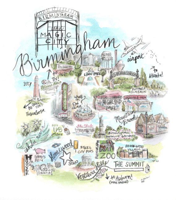 Birmingham Map in 2019.
