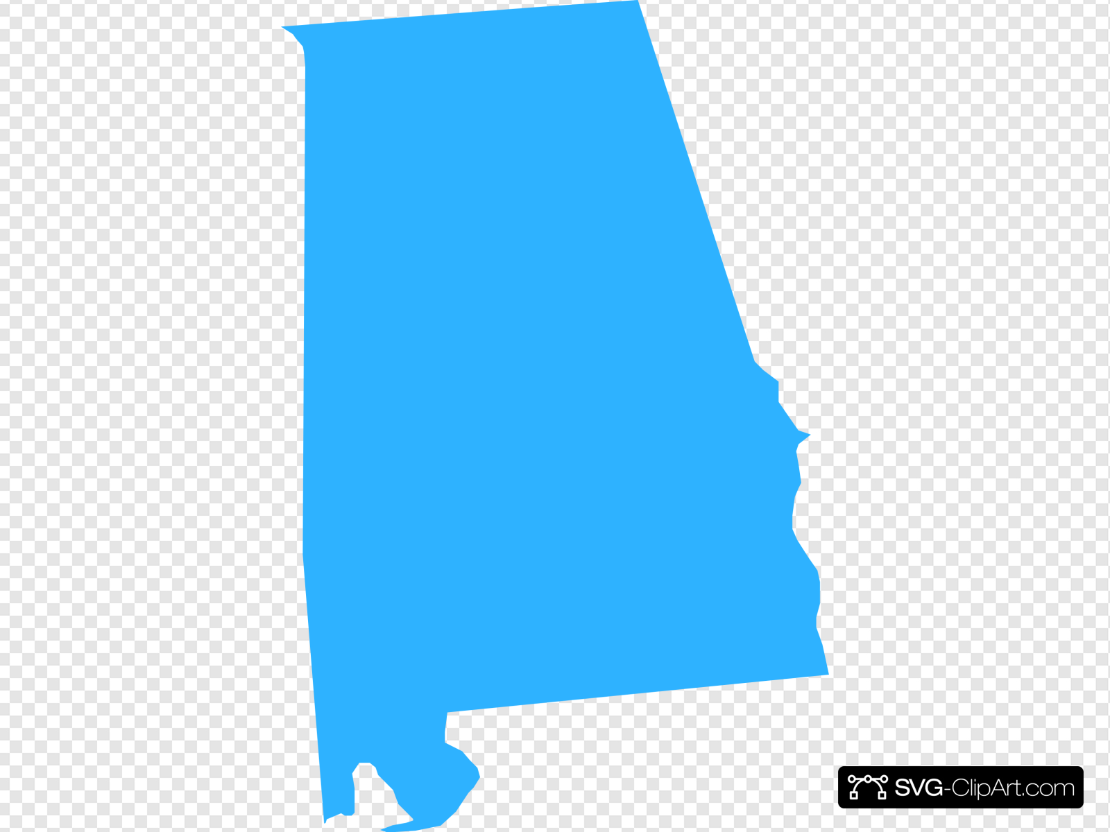 Alabama Map Clip art, Icon and SVG.