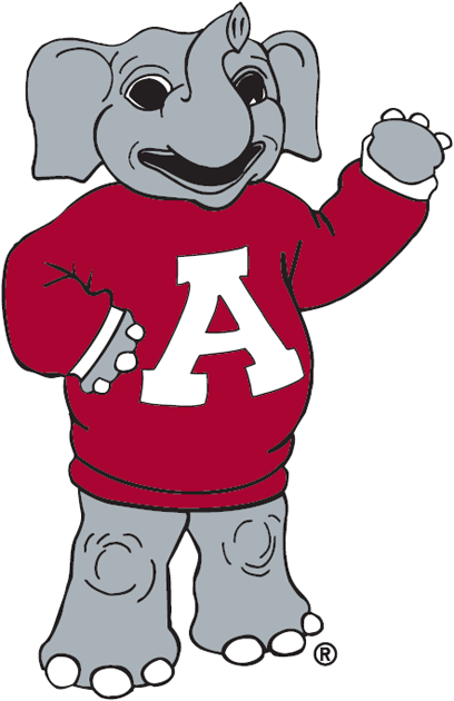 Alabama Crimson Tide Mascot Logo.