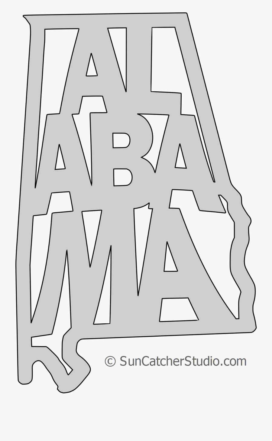 Transparent State Alabama Outline , Free Transparent Clipart.