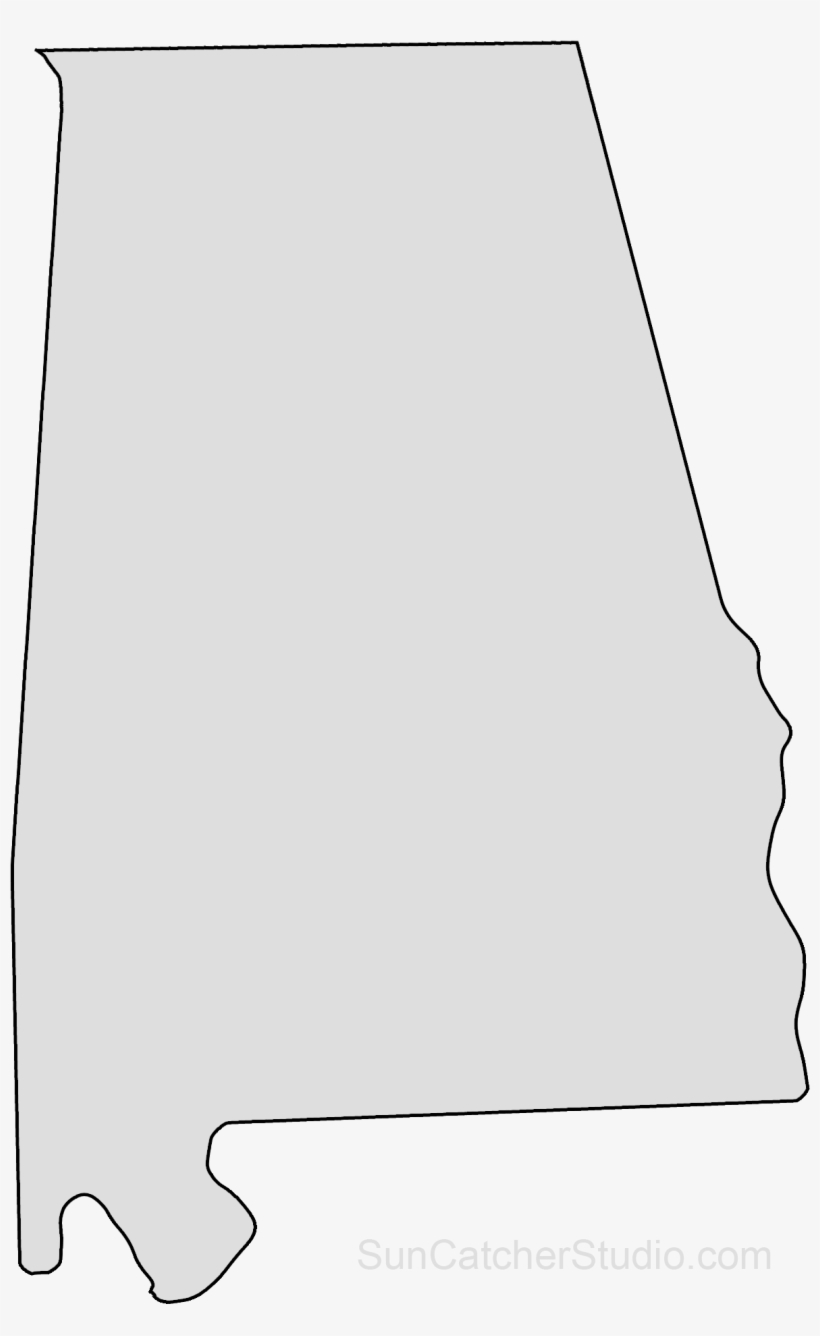 Alabama Map Outline Png Shape State Stencil Clip Art.