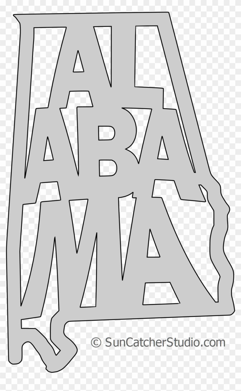 Alabama State Outline Vector.