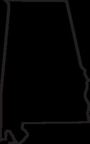 Alabama Outline Clip Art at Clker.com.