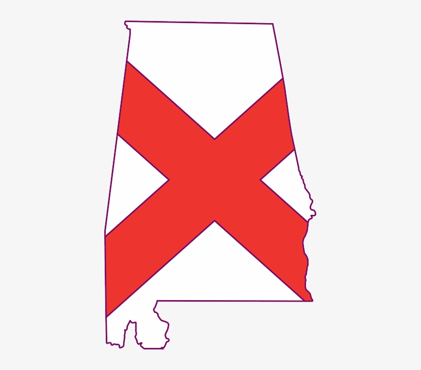 Flag, Outline, States, State, United, America, Alabama.