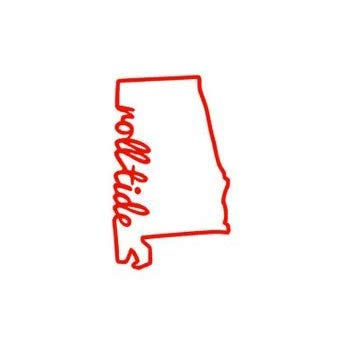 Amazon.com: 32 & Willys Alabama Roll Tide State PREMIUM Decal 5 inch.