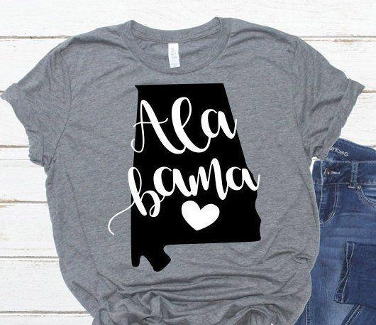 Alabama Svg, Grunge Svg, I Heart Alabama Svg, Alabama Shirts.