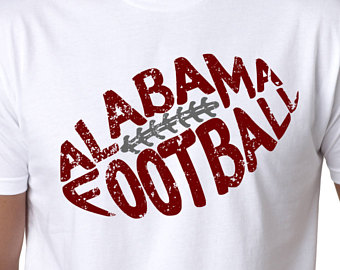 Alabama Football Silhouette.