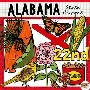 Alabama State Clip Art.