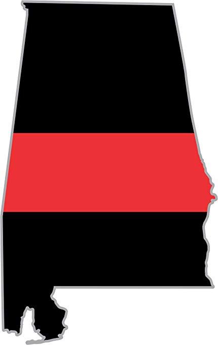 Amazon.com: MilitaryBest Thin Red Line Alabama State 5.5.
