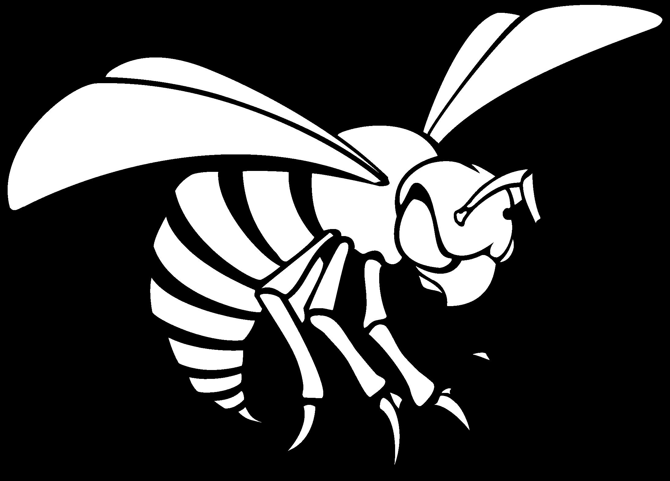 Alabama State Hornets Logo Black And White.