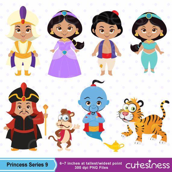 Aladdin Digital Clipart, Jasmine clipart.