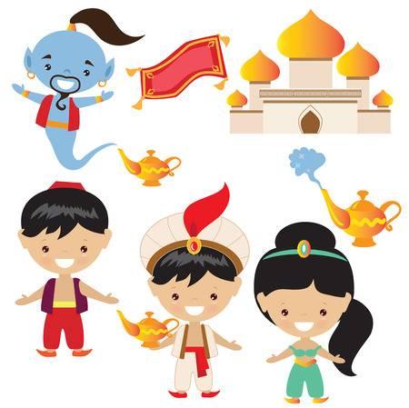 1,185 Aladdin Genie Stock Vector Illustration And Royalty Free.