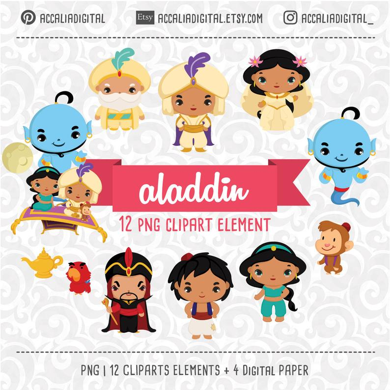 Aladdin Clip art Prince clipart Jasmine Clip art Disney.