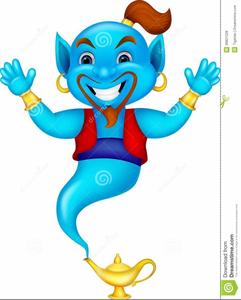 Aladdin Genie Clipart.