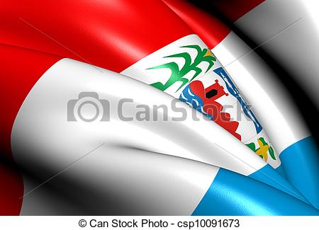 Stock Illustrations of Flag of Alagoas, Brazil. Close Up.