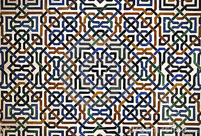 Alhambra Tile Detail Royalty Free Stock Images.