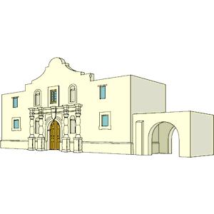 Alamo 3 clipart, cliparts of Alamo 3 free download (wmf, eps, emf.