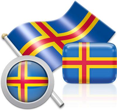 Flag of Aland.