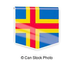 Flag label of aland islands Illustrations and Clip Art. 20 Flag.