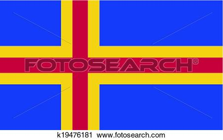 Clipart of Flag of Aland k19476181.