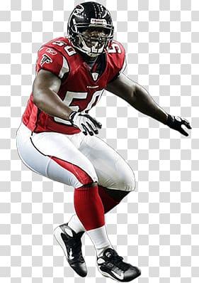 Men\'s red and white Atlanta Falcons jersey shirt, Atlanta.