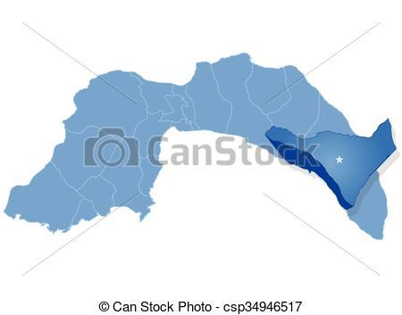 Vector Clip Art of Map of Antalya.