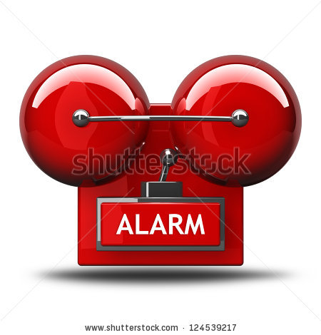 Clip Art Of Fire Alarm.