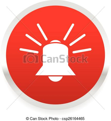 Clip Art Vector of Ringing bell. alarm, emergency, siren, security.