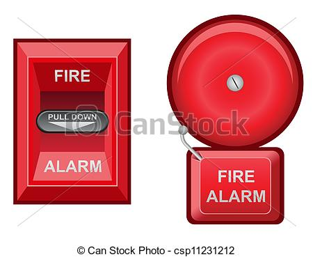 Red Fire Bell Clipart.